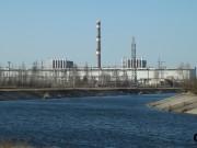 Před černobylskou elektrárnou - 1 a 2 blok