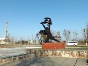Před černobylskou elektrárnou