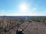 V panoramě se můžete projít i po třeše paneláku :-)