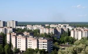 Květnový požár v běloruské části zóny byl viditelný i ze střechy paneláků v Pripjati