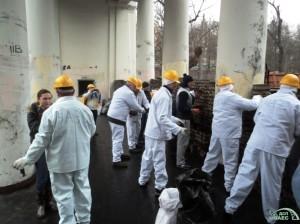 Zaměstnanci Černobylské elektrárny
