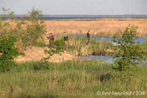 Řeka Dněpr - Rybáři