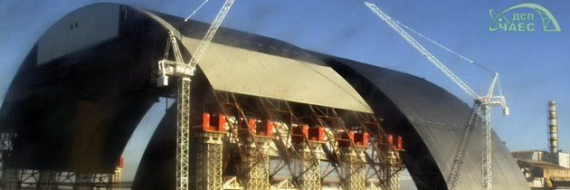 V Černobylu pokračuje výstavba sarkofágu