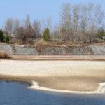 Foto: vypouštění chladícího rybníku