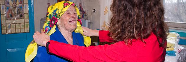 Černobyl navštívil děda Mráz. Rozdával dary pořízené z peněz veřejné sbírky