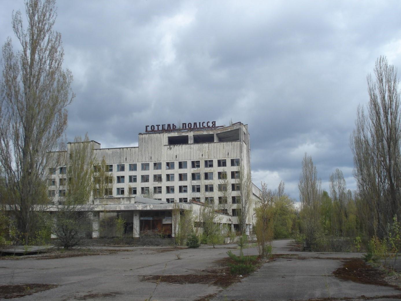Hotel vPripjati, který se také objevil vseriálu (zdroj Vladimír Wagner)