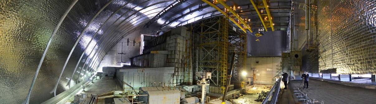 Vnitřní prostory nového sarkofágu (zdroj Černobylská jaderná elektrárna)