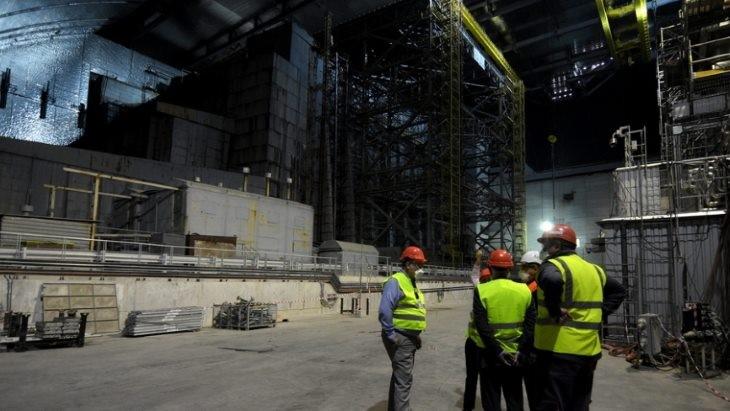 Uvnitř nového sarkofágu (zdroj Černobylská jaderná elektrárna)
