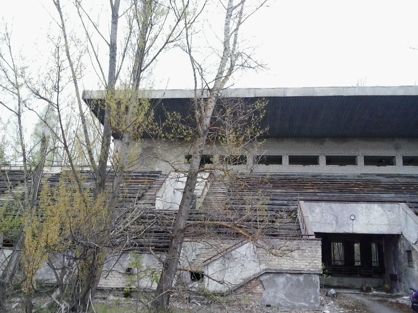 Opuštěný stadion ve městě Pripjať (zdroj Vladimír Wagner)