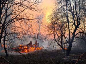 Požár v Černobylu (04.2020)